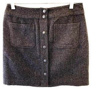 Gap button front wool skirt